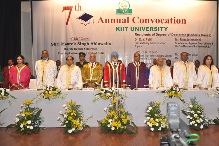 Shri Montek Singh Ahluwalia, Hon'ble Deputy Chairman, Planning Commission of India graces 7th Annual Convocation of KIIT University (6th Jan 2012)