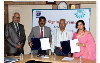 MoU with Jigjiga University. 3rd August 2017 MoU Signing Ceremony between Jigjiga University & KIITU in progress.