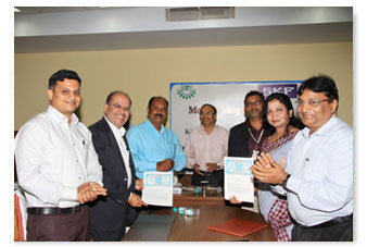 MoU with SKF India Limited for an Advanced Reliability Centre.