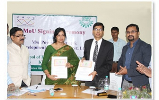 MoU with M/s. Power Research & Development Consultants Pvt. Ltd