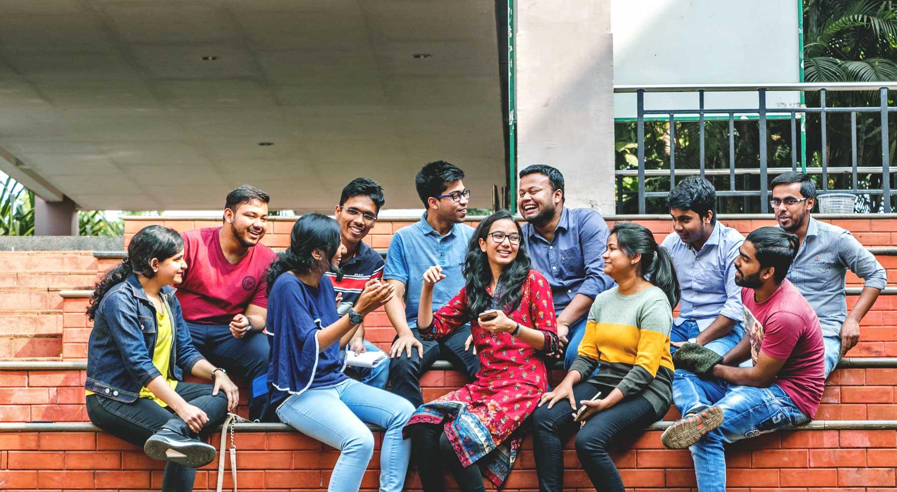 KIIT Students in Campus 2