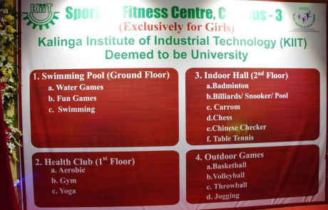 List of facilities available