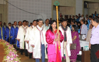 Esteemed Directors, Deans and Faculty members take part among others in the convocation procession led by Dr. Sasmita Samanta, Registrar, KIIT