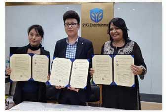 MoU with SDA Composite Art & Fashion College & Ms. Om Naam Shook, Korea-India Cultural & Economic Association