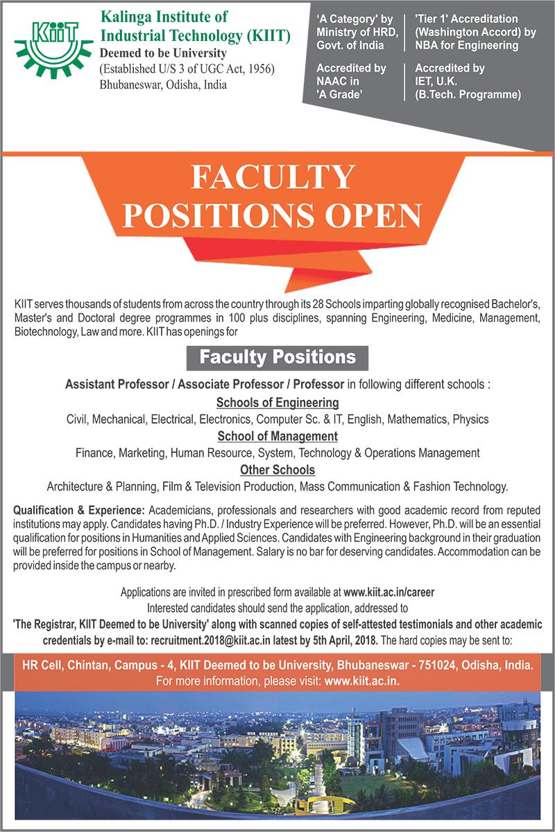 Vacancy Announcement - KIIT